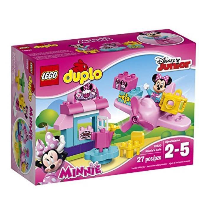Jeu D'Assemblage LEGO N3SUJ Duplo l Disney Mickey Mouse Clubhouse CAF Minnie 10830 Grand Building Block de jouets préscolaires