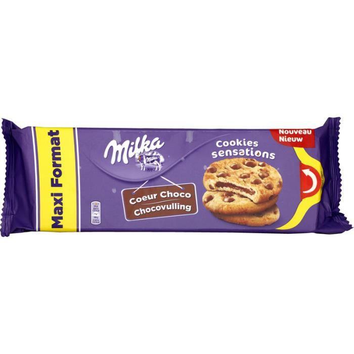 MILKA Cookie cœur choco fondant Sensations Maxi format - 312 g