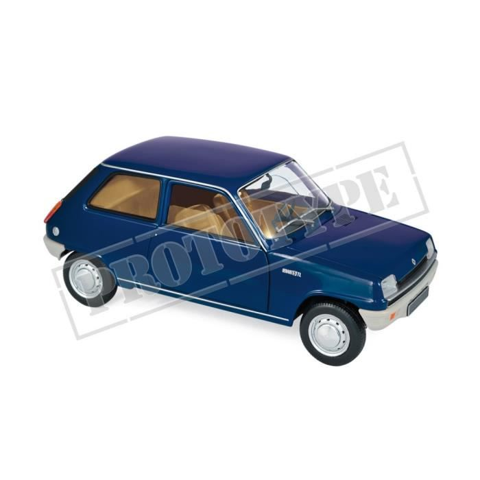 Véhicule Miniature assemble - Renault R5 Bleu Foncé 1973 1-18 Norev