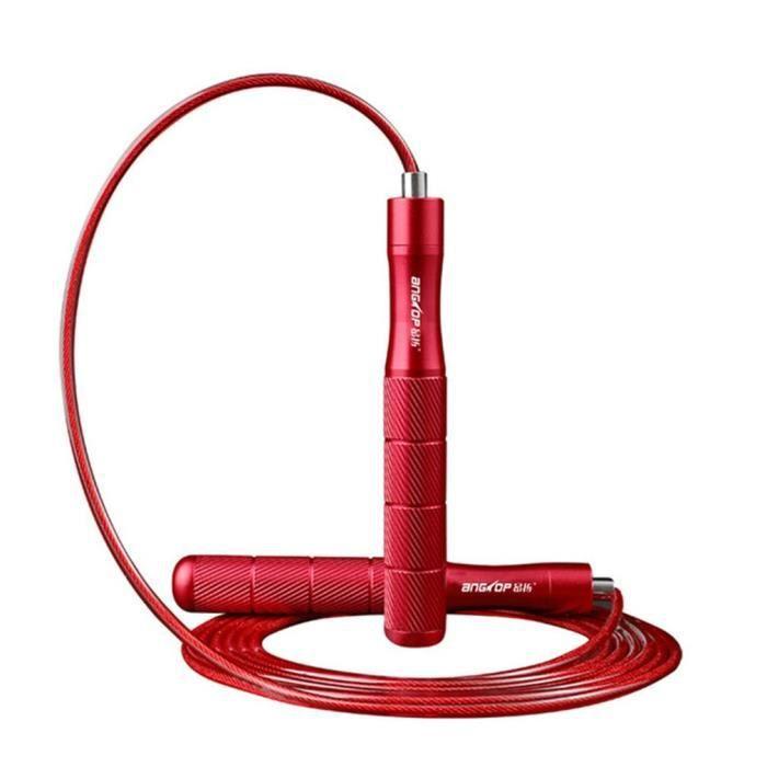 petrichorr Corde à Sauter Ajustable – Speed Rope Réglable de 3m pour Crossfit, Entraînements, Fitness, MMA & Boxe