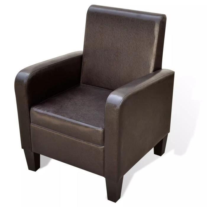 Fauteuil Cuir Fauteuils club, fauteuils inclinables artificiel Marron