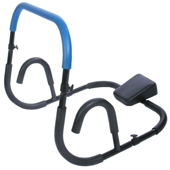 Appareil de Musculation pour Abdominaux - Pliable, Léger, 68 x 64 x 64, Poignées en Mousse, Bleu - AB Trainer, Roller