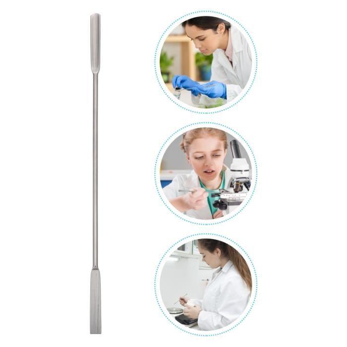 1pc double fin de cuillère de la de laboratoire de de neuf kit hygiene litiere dejections hygiene litiere dejections