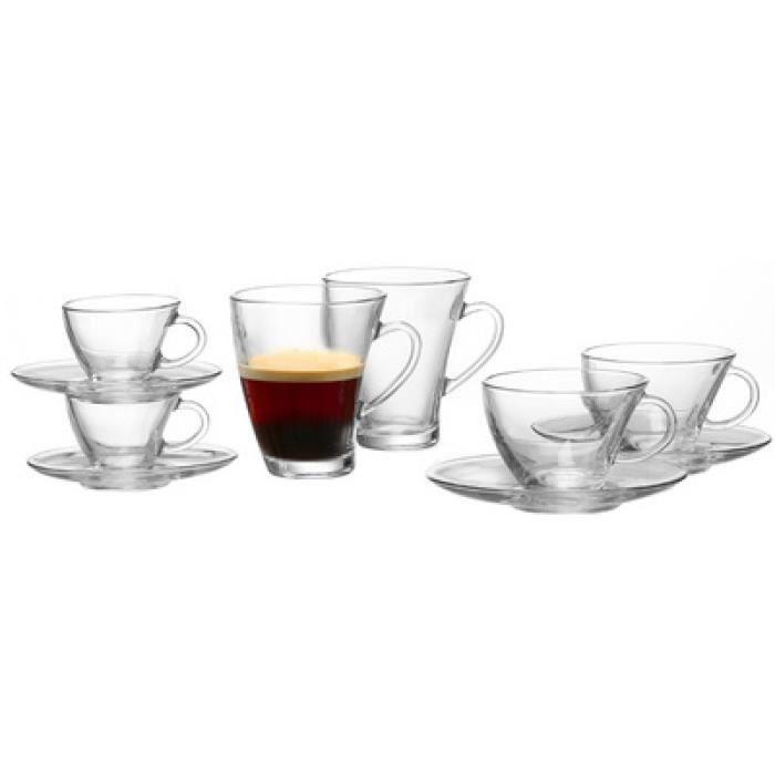 ritzenhoff & breker ritzenhoff & breker verre à cappuccino -rio-, 0.21 l noir noir Noir