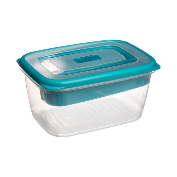 Secret de Gourmet - Lunch box + couverts L, 19,2 x l, 14 x H, 9,7 cm Turquoise