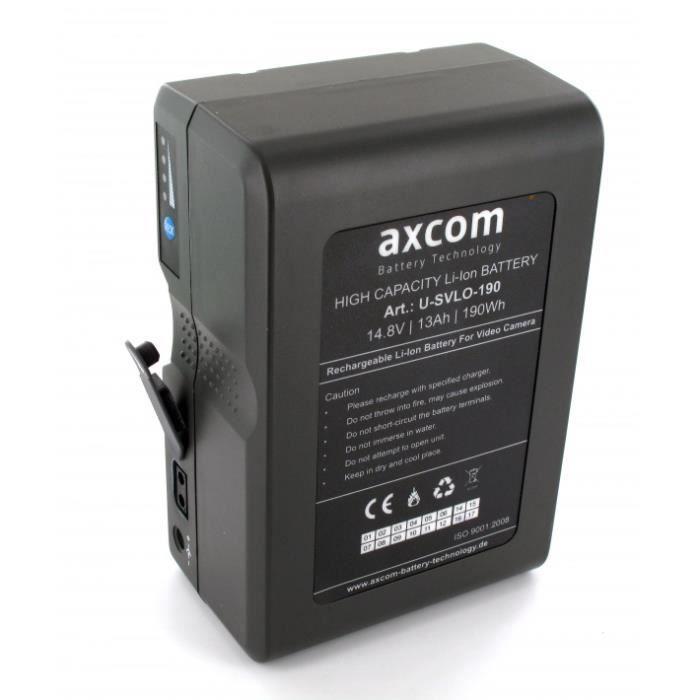 Batterie Camera V-Mount 14.8V 190Wh Li-Ion connecteur D-tap