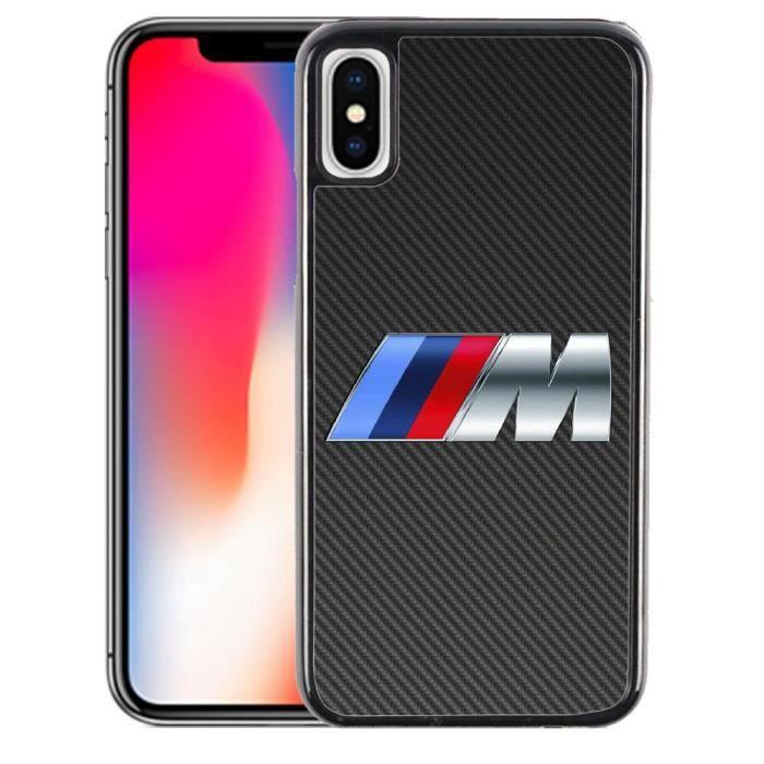 Coque iPhone X BMW M Carbone