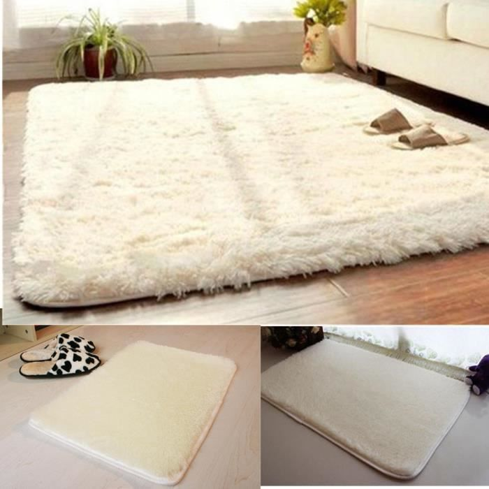 doux fluffy tapis anti skid shaggy tapis salle manger accueil chambre tapis tapis de sol tapis. Black Bedroom Furniture Sets. Home Design Ideas