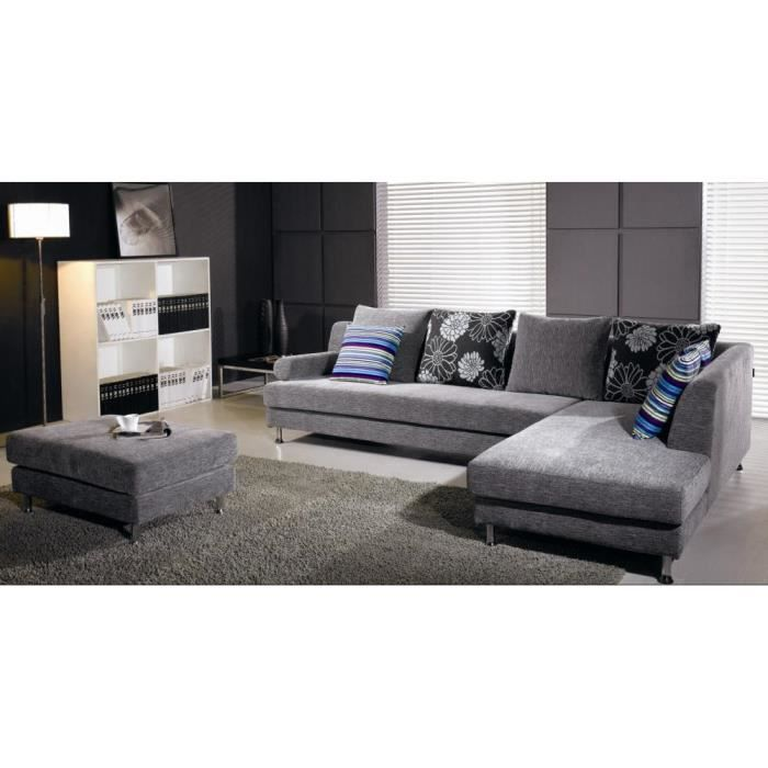 kansas canape contemporain tissus pouf 290x200 97x67. Black Bedroom Furniture Sets. Home Design Ideas