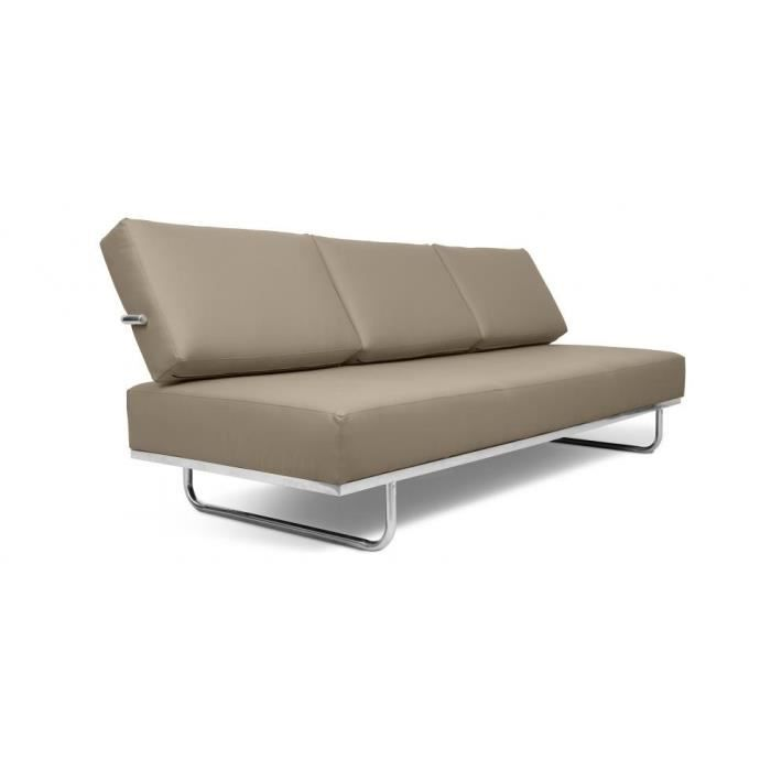 Canap lit lc5 f inspir charles le corbusier cu achat vente canap s - Canape cuir le corbusier ...