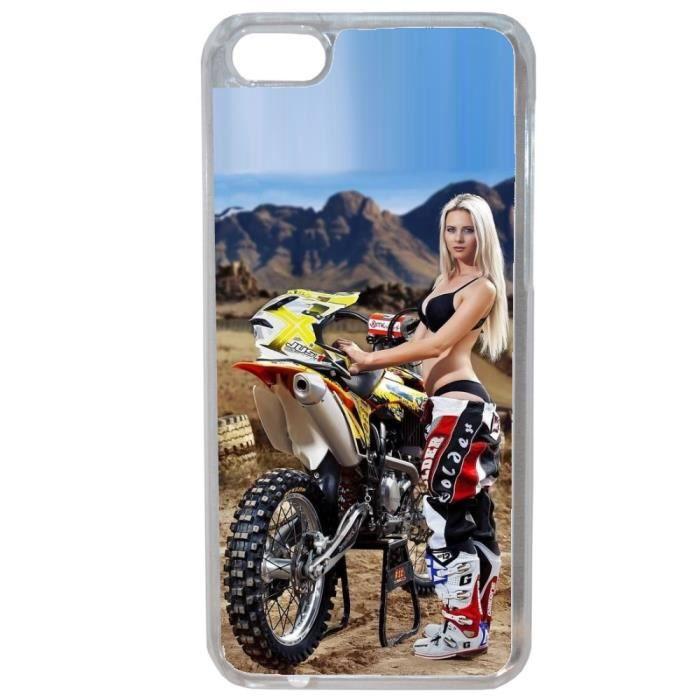 Coque Iphone 6 Plus - 6S Plus Moto Cross Femme sexy Pin up Pose ...