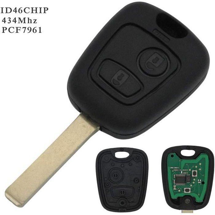 CLE PLIP Peugeot 107 207 307 407 106 206 306 406 KIT 2 Switch Coque TELECOMMANDE @Pro-Plip