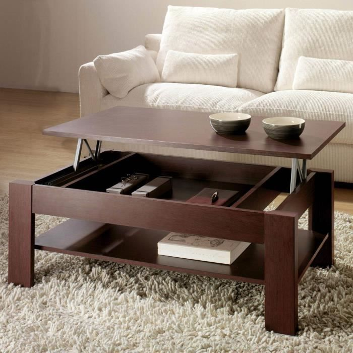Table basse relevable oralia wengu dimensions achat - Table basse relevable cdiscount ...