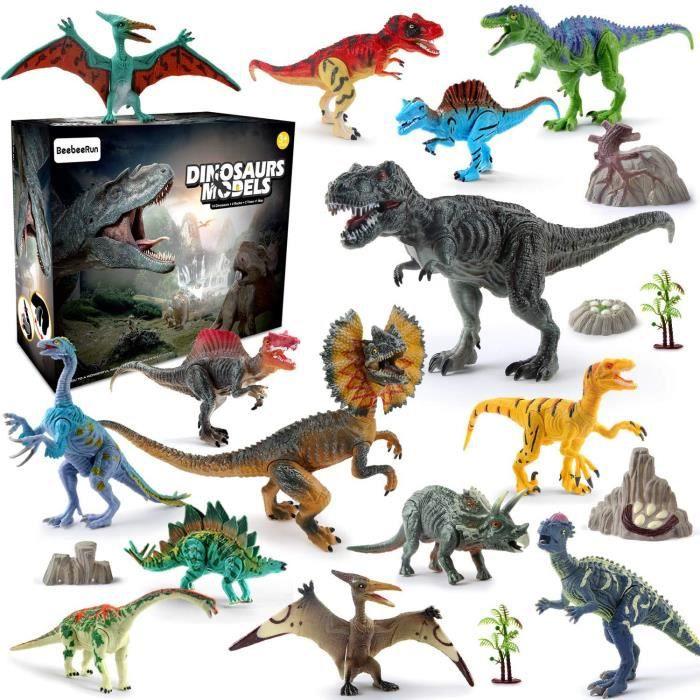 Nouvelle pièce droite T-Rex DINOSAURE jeu Set 3 Garçon Enfant Jouet d/'imagination