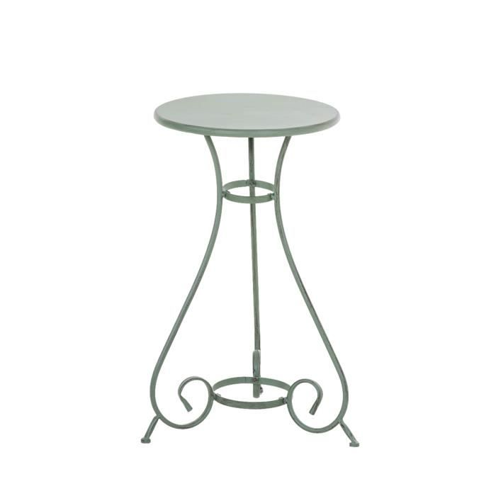 Table ronde de jardin 40 achat vente table ronde de for Table de jardin ronde en fer