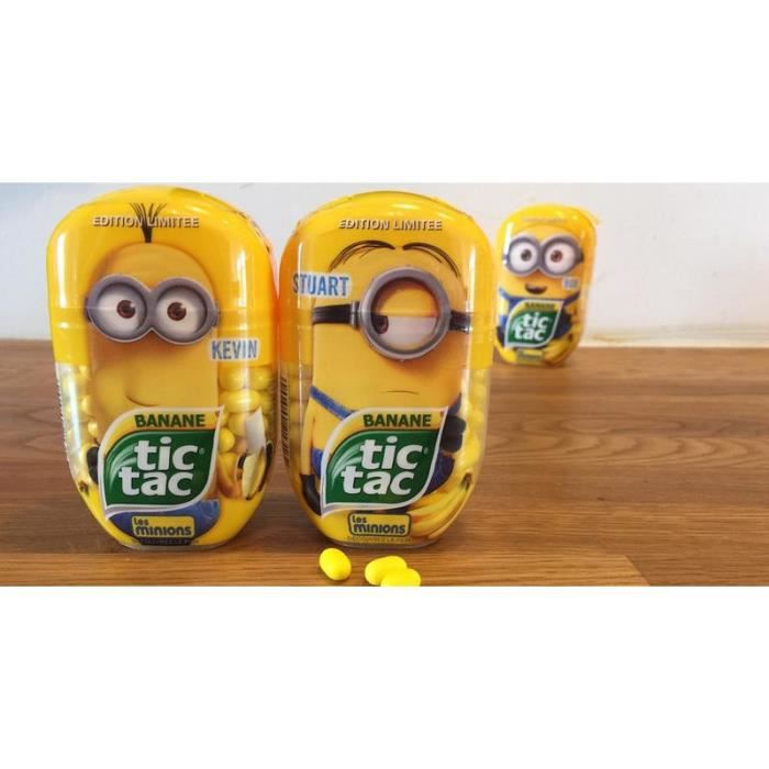 tic tac banane les minions bo te collector achat vente confiserie de sucre tic tac banane. Black Bedroom Furniture Sets. Home Design Ideas