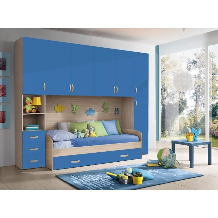 chambre d 39 enfant compl te hurra combin lit pont d cor. Black Bedroom Furniture Sets. Home Design Ideas