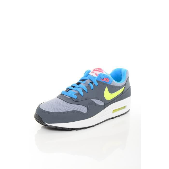 basket enfant nike air max 1 grise bleu bleu achat vente basket cdiscount. Black Bedroom Furniture Sets. Home Design Ideas