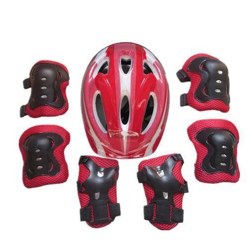 Enfants Protection Casque Genou Coude Poignet Patin Ensemble Vélo