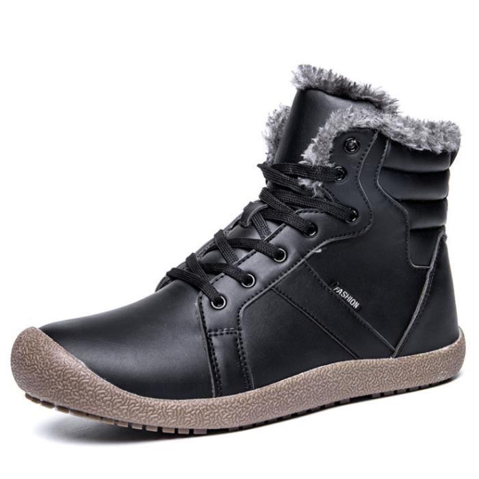 Durable Mode en Qualité 39 Chaussurs Antidérapant Hiver Confortable Cuir neige Nouvelle Homme Bottes 48Bleu Haut Chaussure de mnvNyO08w