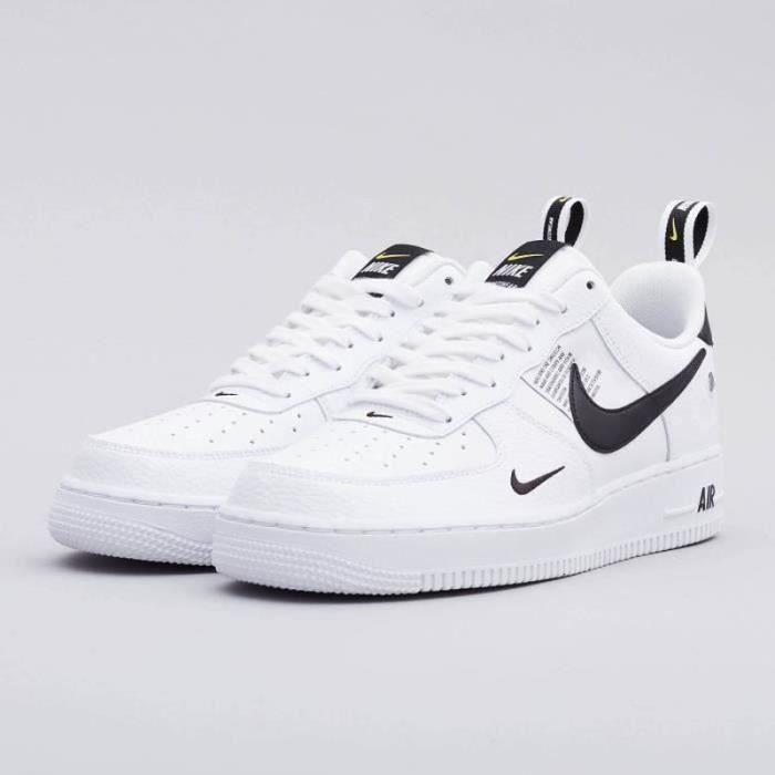 Nike air force one noir et blanche - Cdiscount