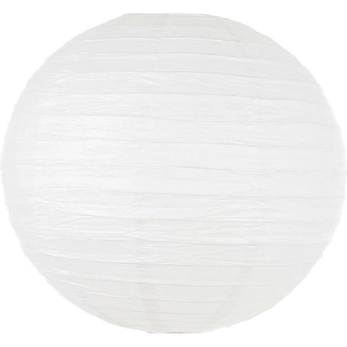 Suspension lanterne boule blanche achat vente for Suspension boule
