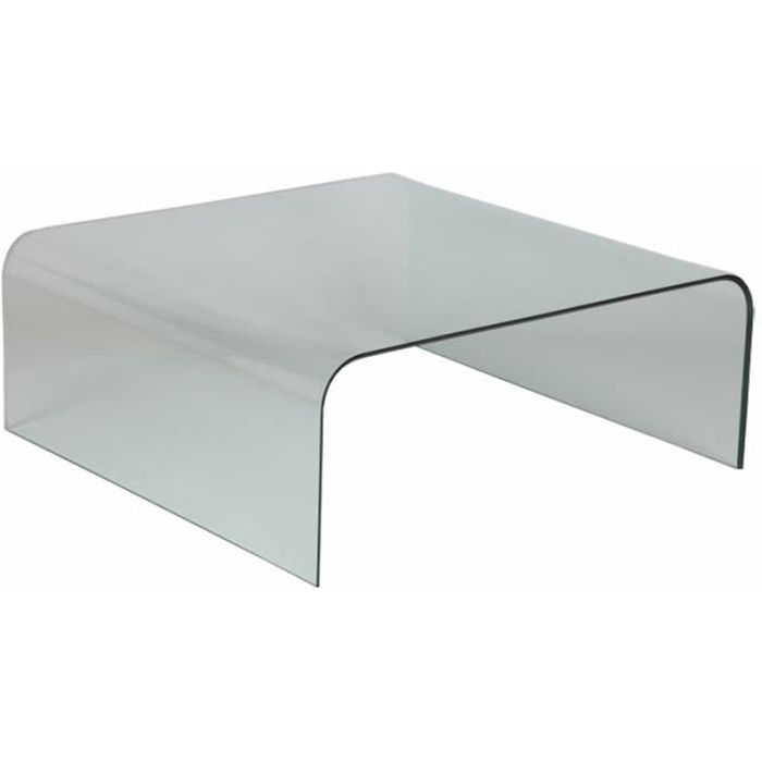 Table basse en verre carr e x x ht achat - Table basse carree en verre ...