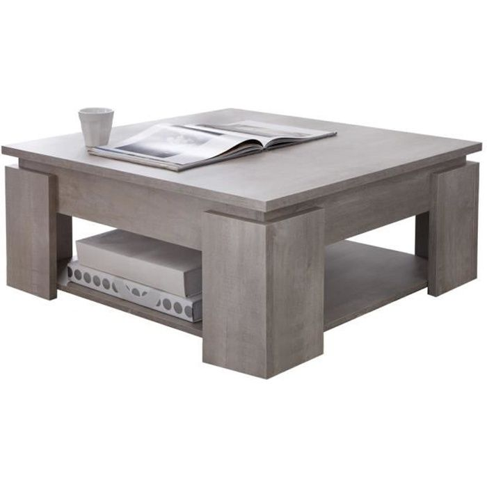 Table basse coloris ch ne champagne avec porte achat vente table bass - Table and co vente en ligne ...