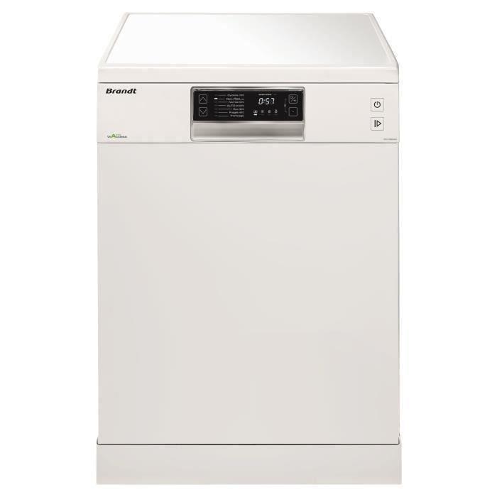 BRANDT DFH13534W - Lave-vaisselle posable - 13 couverts - 44dB - A+++ - Larg. 60cm