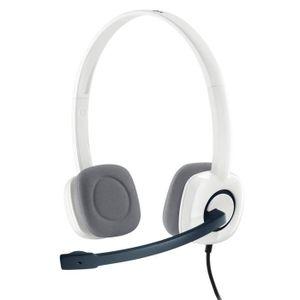 CASQUE AVEC MICROPHONE Logitech casque filaire Stereo - H150 W
