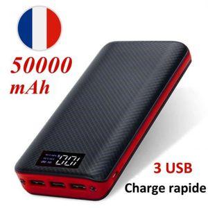 BATTERIE EXTERNE KIVTEET-20800mAh charge rapide 3.0 2USB batterie p