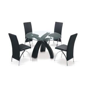 TABLE À MANGER SEULE TABLE A MANGER RONDE NOIRE GORE