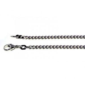 CHAINE DE COU SEULE 500-45cm-armure chaîne-750 15mm en or blanc