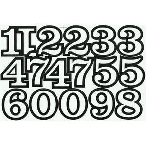 Planche lettrage adhésif sticker moto quad 1,4cm ht lettre chiffre 10 couleurs