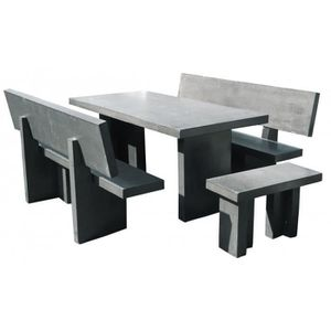 table jardin beton achat vente table jardin beton pas cher cdiscount. Black Bedroom Furniture Sets. Home Design Ideas