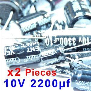 3x Condensateur /électrolytique chimique 2200uF /± 20/% 10V THT 85/°C 2000h /Ø10x20mm radial Aerzetix