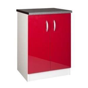 ELEMENTS BAS Meuble cuisine bas 60 cm 2 portes OXANE rouge