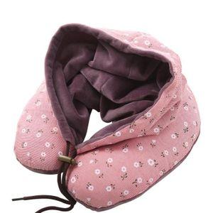 le sommeil et le sac de rangement rose Oreiller de voyage en mousse /à m/émoire de forme de U multicolore pour le sommeil le bureau