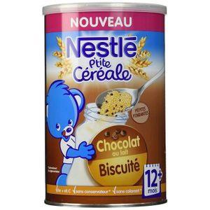 CÉRÉALES BÉBÉ [LOT DE 3] NESTLÉ P'tite céréale Chocolat au lait