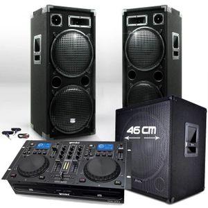 PACK SONO Pack 3000W 18215 Caisson bi-amplifié + Table GEMIN
