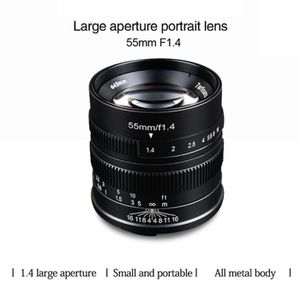 OBJECTIF Noir Objectif 7 artisans 55mm F1.4 Prime pour SONY