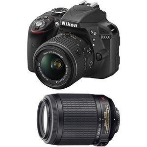 APPAREIL PHOTO RÉFLEX NIKON D3300 + 18-55 VR II + 55-200 VR