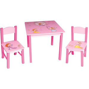 Table et chaise princesse achat vente table et chaise for Chaise pour table en bois