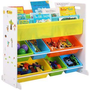 PETIT RANGEMENT  SONGMICS Meuble de rangement pour jouets et livres