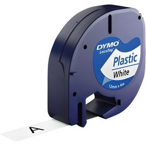 RUBAN - ENCREUR 2 x Cassette à ruban pour Dymo LetraTag LT-100H, L