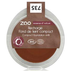FOND DE TEINT - BASE Recharge fond de teint compact chocolat ZAO 735R