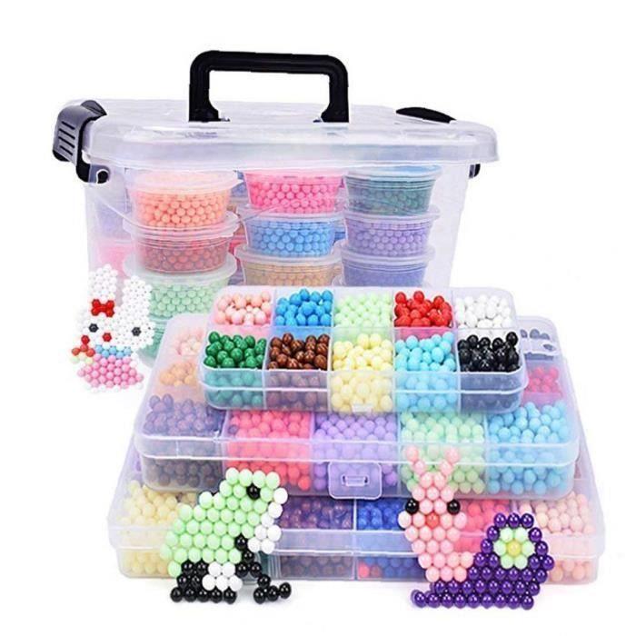 2200pcs eau Fuse Perles Kit 10 Couleurs de bricolage soluble dans l\'eau Puzzle jouets pour enfants-,-isCdav-:false,-price-:16.07