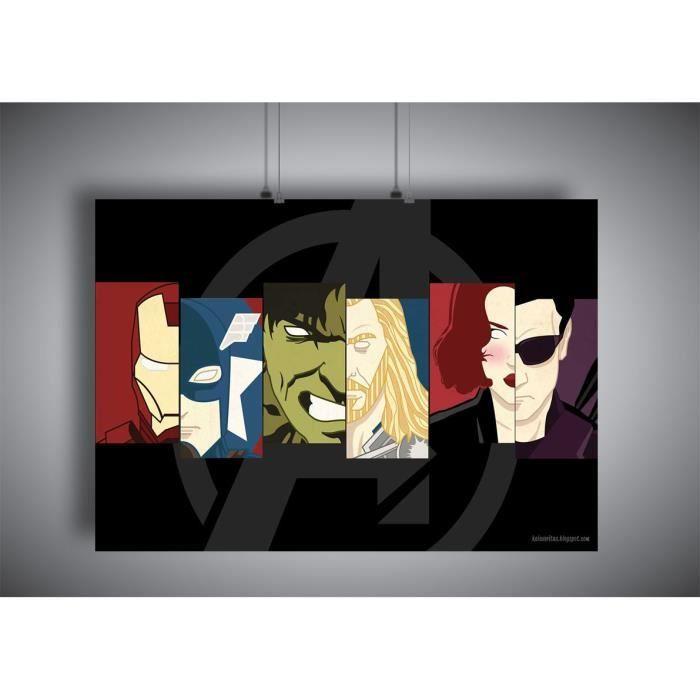 Poster logo avengers marvel studio wall art - A3 (42x29,7cm)