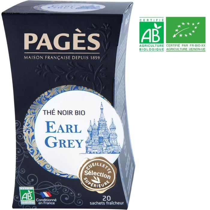 PAGES Thé Noir Earl Grey - Bio