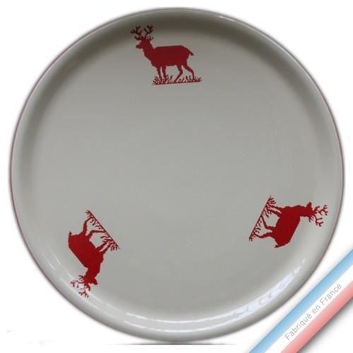 Collection MONTAGNE ROUGE - Plat tarte - Diam 32 cm - Lot de 1